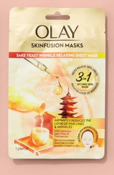 NEW-Olay-Skinfusion-Single-Sake-Yeast-Wrinkle-Relaxing-Sheet-Mask on sale