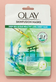 NEW-Olay-Skinfusion-Single-Deep-Sea-Algae-Healthy-Aura-Sheet-Mask on sale