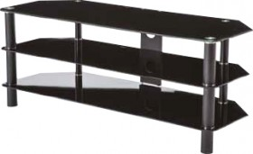 Linden-TV-Stand-1200mm-Glass-3-Shelf on sale