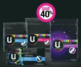 Save-40-on-U-by-Kotex-Feminine-Hygiene-Range on sale