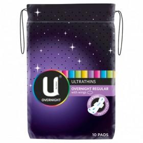 U-By-Kotex-Overnight-Ultrathin-Pads-10ea on sale