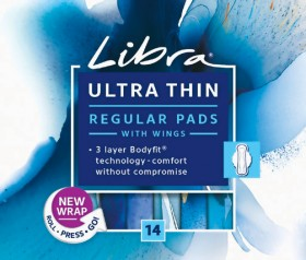 Libra-Ultra-Thins-Regular-Pads-with-Wings-14-Pack on sale