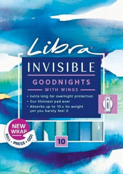 Libra-Invisible-Goodnights-with-Wings-10-Pack on sale