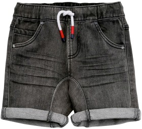 The-1964-Denim-Company-Boys-Gusset-Short-Charcoal on sale