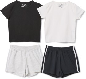 K-D-Crop-Tees-or-Side-Stripe-Shorts on sale