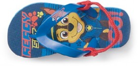 Paw-Patrol-Infant-Chase-Boys-Thongs-Blue on sale
