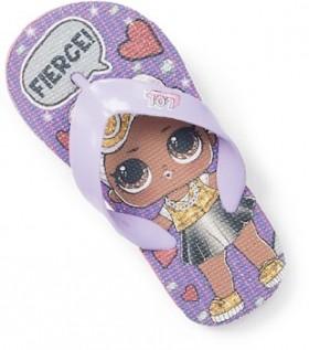 LOL-Surprise-Girls-Print-Thongs-Purple on sale