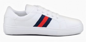 me-Womens-Stripe-Panel-Shoes-White on sale