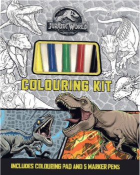 NEW-Jurassic-World-Colouring-Kit on sale