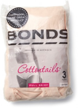 Bonds-Womens-Cottontails-Full-Brief-3-Pack-Nude on sale