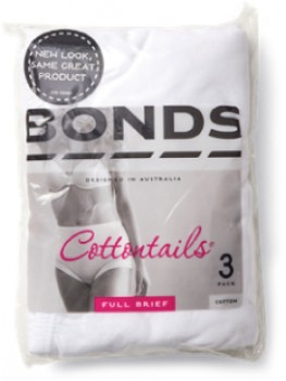 Bonds-Womens-Cottontails-Full-Brief-3-Pack-White on sale