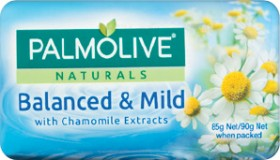 NEW-Palmolive-Naturals-Balanced-Mild-Bar-Soap-Chamomile-Extracts-90g-4-Pack on sale