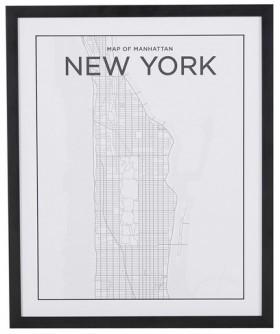 Manhattan-Map-Print on sale