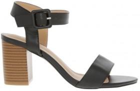 Miss-Shop-Beckham-Sandals-Black on sale