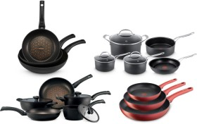 50-off-A-Great-Range-of-Cooksets-and-Frypan-Packs-by-Anolon-Circulon-Essteele-Jamie-Oliver-Tefal-Raco-and-Tefal on sale