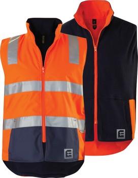 ELEVEN-Hi-Vis-Spliced-Reversible-Vest-with-3M-Tape on sale
