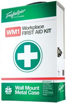 Trafalgar-Wall-Mount-Metal-Workplace-First-Aid-Kit on sale