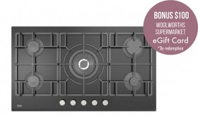 Beko-90cm-Black-Glass-Gas-Cooktop on sale