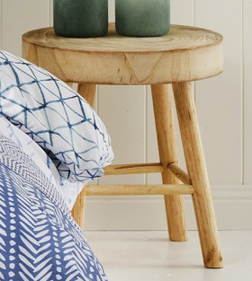 Ombre-Home-Weathered-Coastal-Wooden-Stool on sale