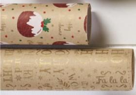 Celebrate-Jolly-Joy-Wrap-Kraft-76cmx5m on sale