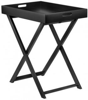Bouclair-Soleado-Black-MDF-Tray-Table-60x40x65cm on sale