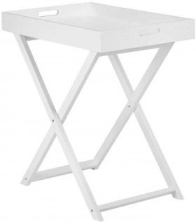 Bouclair-Tropica-White-MDF-Tray-Table-60x40x65cm on sale