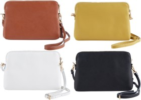 Womens-Coated-Leather-Crossbody-Bag on sale