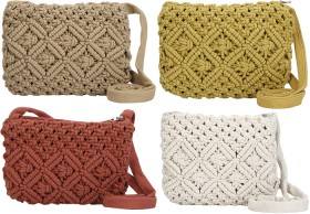 Womens-Macrame-Crossbody-Bag on sale