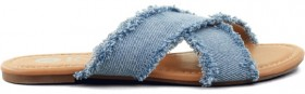 K-D-Girls-Denim-Sandals-Blue on sale