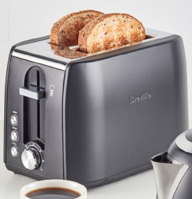 NEW-Breville-Soho-Matt-Black-Metal-2-Slice-Toaster on sale