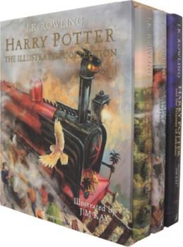 Harry-Potter-Hardback-Illustrated-Collection-Book-Box-Set on sale
