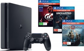 PS4-1TB-Slim-Console-Choice-of-3-Selected-Playstation-Hits-Titles on sale