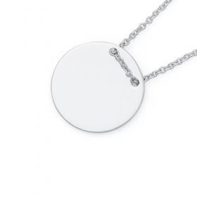 Sterling-Silver-Thread-Through-Plain-Disc-Pendant on sale