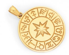 9ct-Gold-Zodiac-Pendant on sale