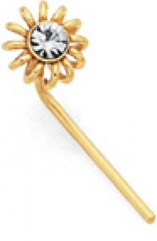 9ct-Gold-Crystal-Daisy-Nose-Stud on sale