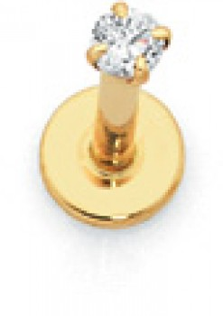 9ct-Gold-CZ-Labret on sale