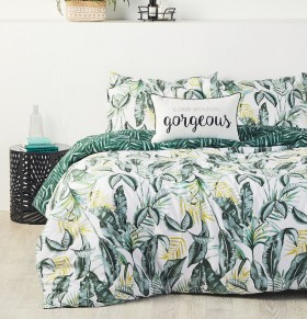 House-Home-Vintage-Palm-180-Thread-Count-Reversible-Print-Quilt-Cover-Set on sale
