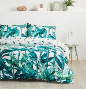 House-Home-Rainforest-225-Thread-Count-Reversible-Print-Quilt-Cover-Set on sale