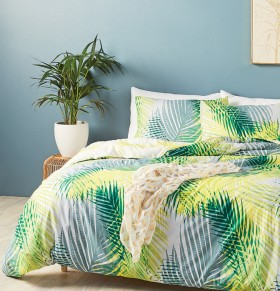 House-Home-Summer-Fern-180-Thread-Count-Reversible-Print-Quilt-Cover-Set on sale