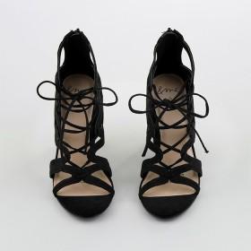 me-Zip-Up-Heels-Black on sale