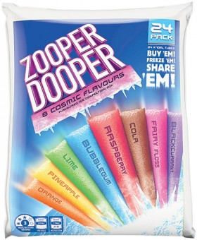 Zooper-Dooper-Cosmic-24-Pack-Flavoured-Ice-Confection-Mix on sale