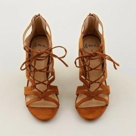me-Zip-Up-Heels-Brown on sale
