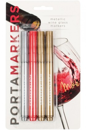 Porta-Markers-4pk-Metallic-Glass-Markers on sale