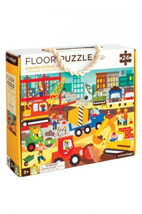 Petitcollage-Construction-Site-Floor-Puzzle on sale