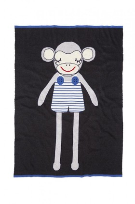 Marty-Monkey-Knitted-Baby-Blanket on sale