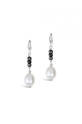 By-Fairfax-Roberts-Pearl-and-Haematite-Earrings on sale