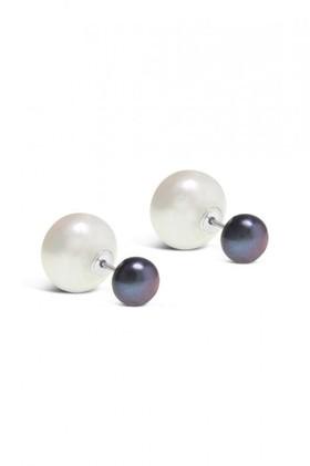 By-Fairfax-Roberts-Real-Pearl-Modern-Twist-Duo-Stud-Earrings on sale