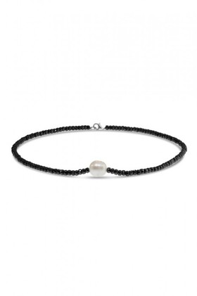 By-Fairfax-Roberts-Real-Pearl-And-Haematite-Short-Necklace on sale