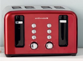 Smith-Nobel-4-Slice-Toaster-Red on sale
