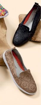 Savannah-Delilah-Leather-Perforated-Slip-On on sale